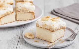 Torta banane e crema pasticciera