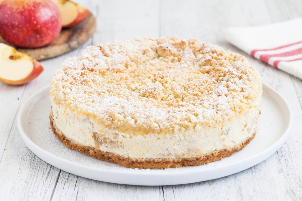 Apple crumble cheesecake alle mele