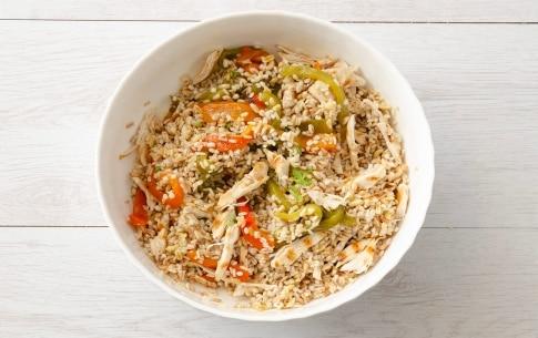 Preparazione Insalata di cereali con pollo e peperoni grigliati - Fase 3