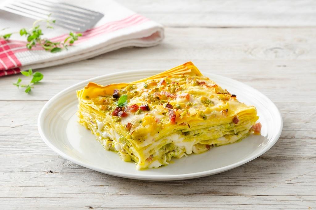 Lasagne ai pistacchi e taleggio