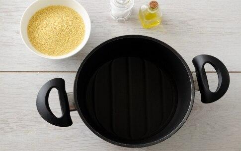 Preparazione Tortini di cous cous, merluzzo e pomodorini al finocchietto - Fase 1