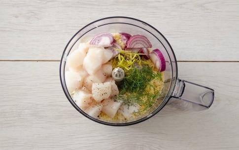Preparazione Tortini di cous cous, merluzzo e pomodorini al finocchietto - Fase 2