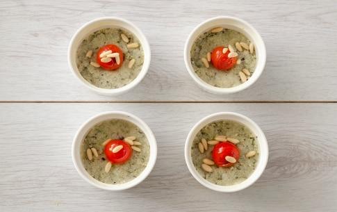 Preparazione Tortini di cous cous, merluzzo e pomodorini al finocchietto - Fase 3