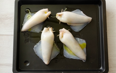 Preparation Stuffed Squid in the oven - Step 2