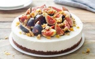 Cheesecake allo yogurt con fichi e noci...