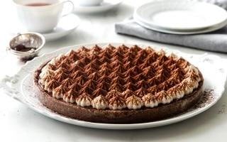 Crostata meringata al cacao