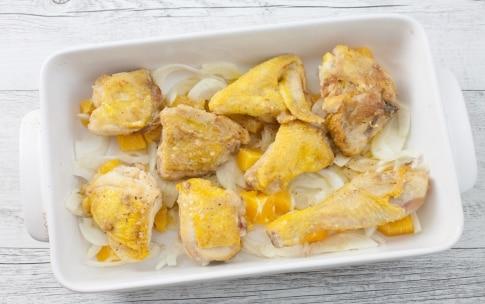 Preparazione Pollo al forno con arancia e finocchio - Fase 2