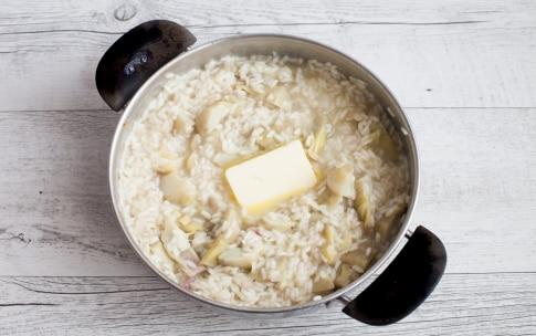 Preparazione Risotto ai carciofi con fonduta di formaggio  - Fase 3