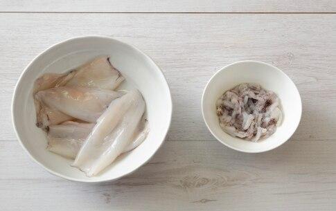 Preparazione Calamari grigliati ripieni di fagioli e pecorino - Fase 1