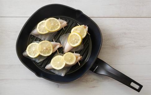 Preparazione Calamari grigliati ripieni di fagioli e pecorino - Fase 2