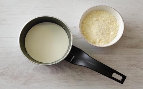 Preparazione Purè di fave e patate con ciccioli di guanciale e salsa al pecorino - Fase 1