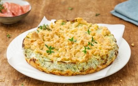 Sbriciolata salata broccoli e salame