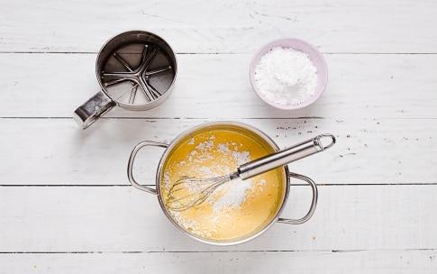 Preparazione Torta al cacao, rum, crema all'arancia - Fase 1