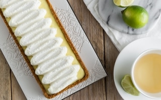 Crostata al lime e chantilly al cioccolato...