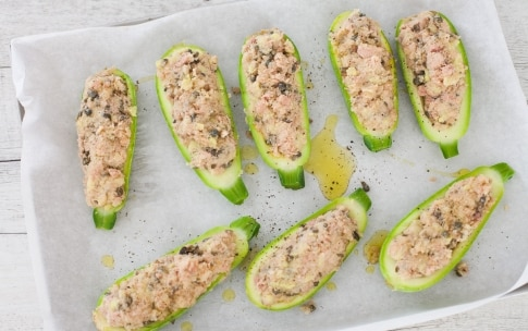 Preparation Zucchini stuffed with tuna and capers - Step 2