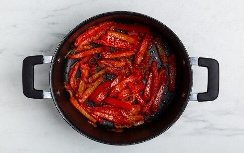 Preparazione Baccalà in umido con peperoni, patate e olive taggiasche - Fase 2