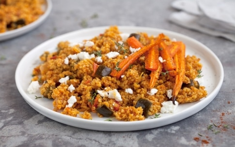 Preparazione Bulgur con verdure e feta - Fase 3