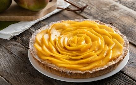 Torta mango e crema ricca