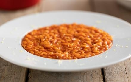 Risotto al concentrato di pomodoro
