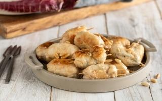 Bocconcini di pollo al radicchio e gorgonzola