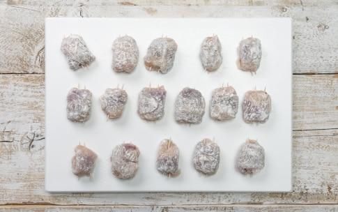 Preparazione Bocconcini di pollo al radicchio e gorgonzola - Fase 3