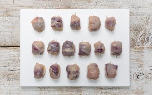 Preparazione Bocconcini di pollo al radicchio e gorgonzola - Fase 2