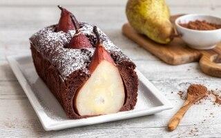 Plumcake al cacao e pere