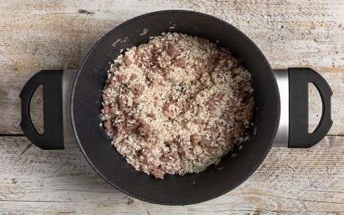 Preparazione Risotto alla zucca e salsiccia - Fase 3