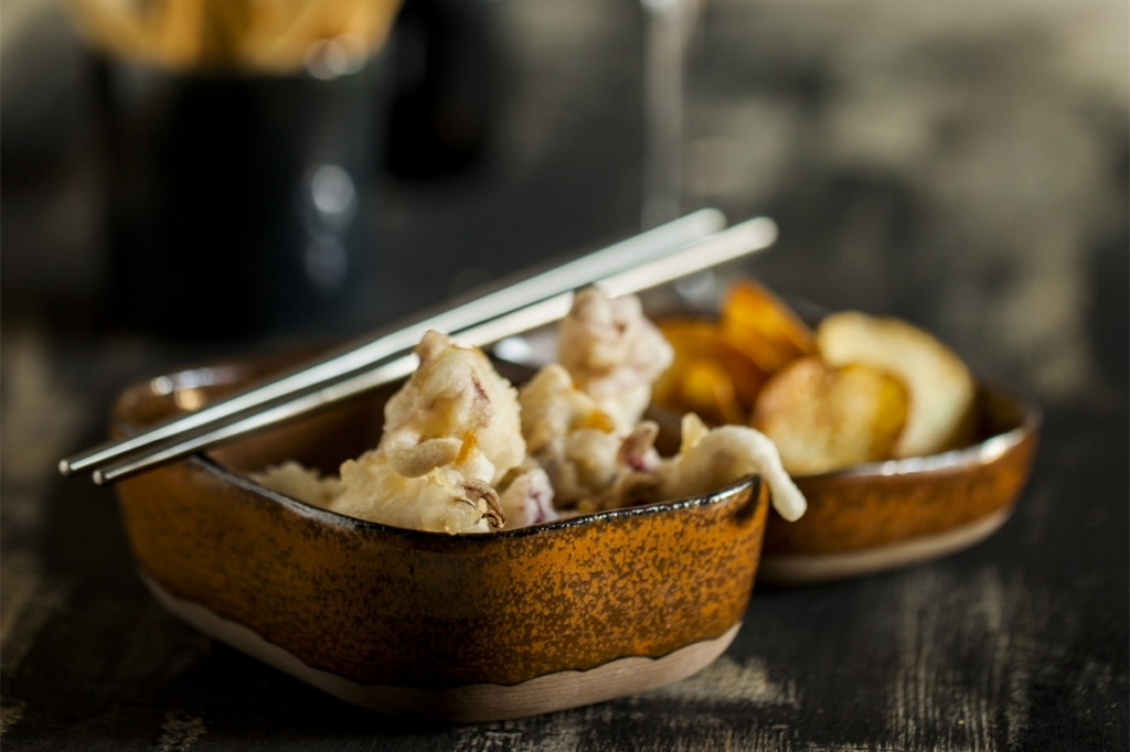 Tempura di ciuffetti e patate croccanti