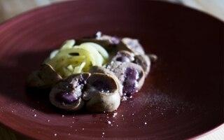 Rognone con tagliatelle di patate