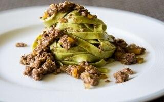 Tagliatelle verdi di segale e zucchine con...