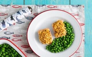 Bocconcini di salmone alla senape e corn...
