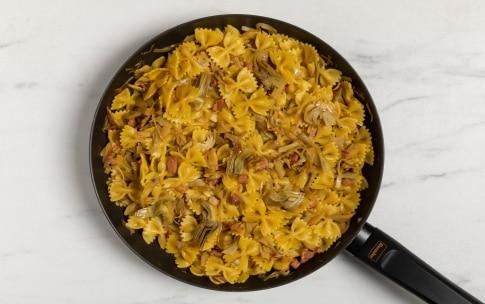 Preparazione Pasta con carciofi e pancetta - Fase 3