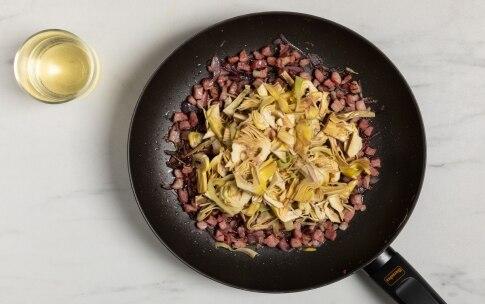 Preparazione Pasta con carciofi e pancetta - Fase 2