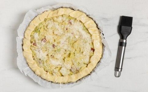 Preparazione Torta salata alla verza senza uova - Fase 3