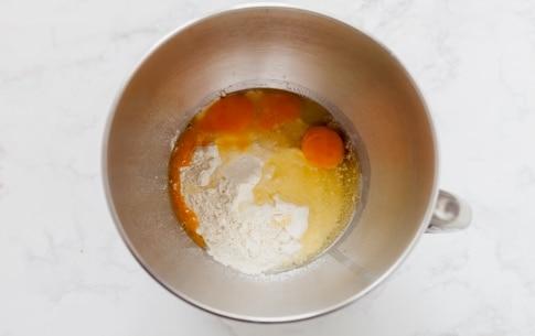Preparazione Rotolo di pasta all'uovo ripieno con melanzane, prosciutto cotto e scamorza - Fase 1
