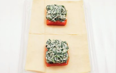 Preparazione Fagottini di salmone e spinaci  - Fase 2