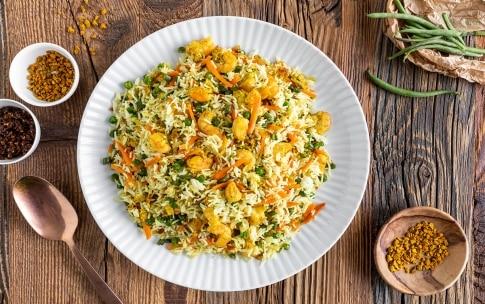 Preparazione Riso basmati con verdure e gamberi - Fase 6