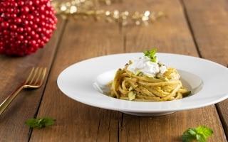 Linguine di Gragnano al pesto di pistacchio...