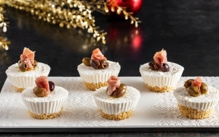 Mini cheesecake al prosciutto crudo con...