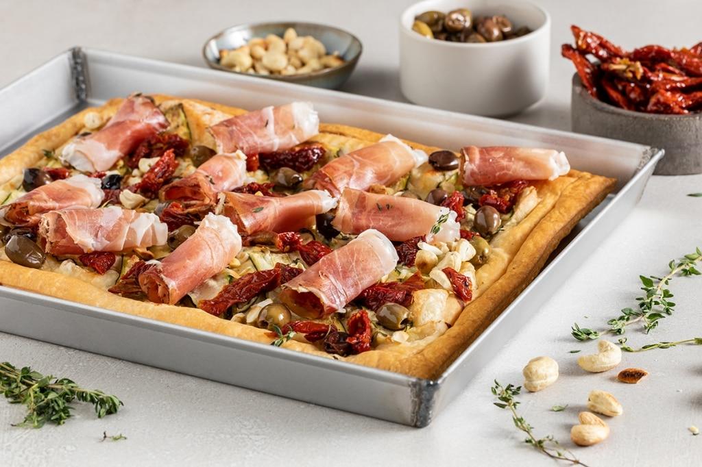 Torta salata gustosa allo Speck Alto Adige IGP