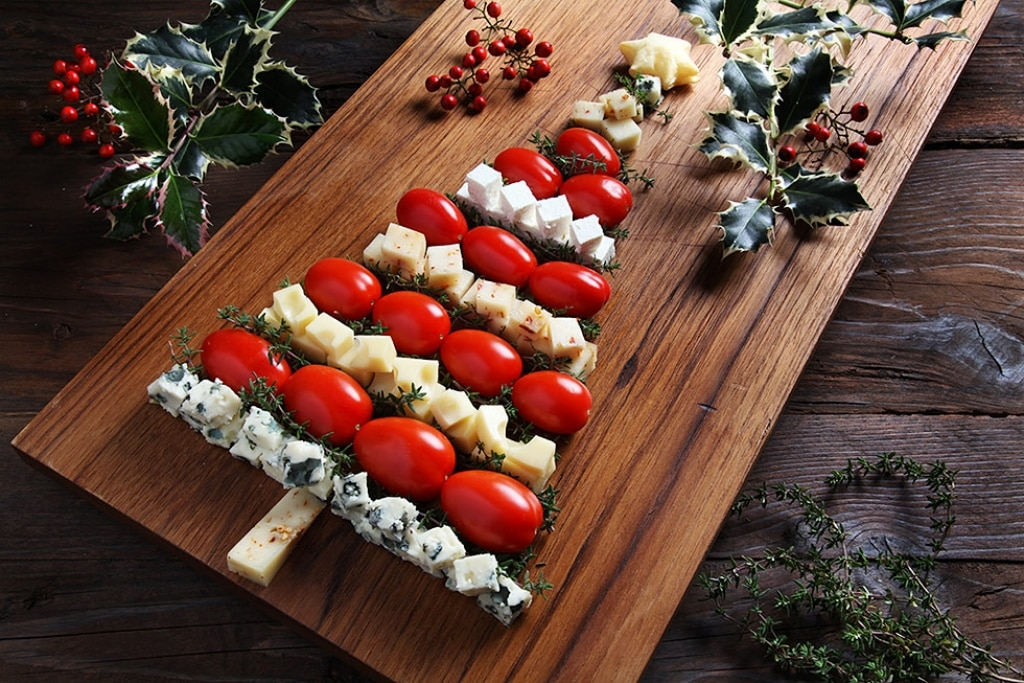 Albero di Natale ai formaggi