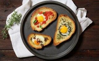 Crostoni buonissimi con il pane raffermo