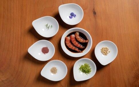 Preparazione Gamberi ubriachi con pinoli e salsa di soia - Fase 2