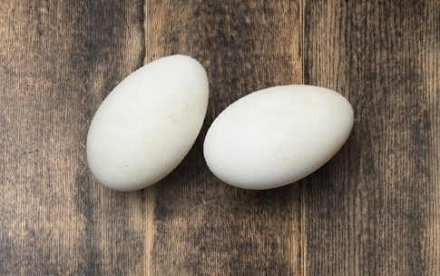 Preparazione Uovo d'oca con asparagi - Fase 1