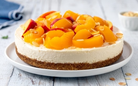 Cheesecake alle pesche