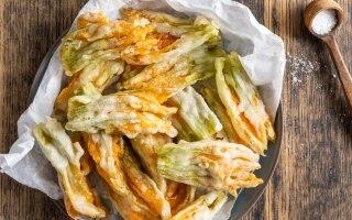 Fiori di zucca fritti in tempura